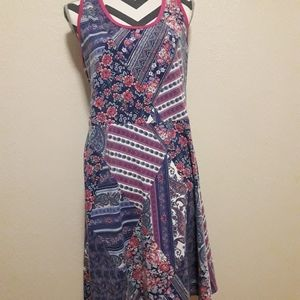 French Atmosphere Large Cotton Patchwork Dress